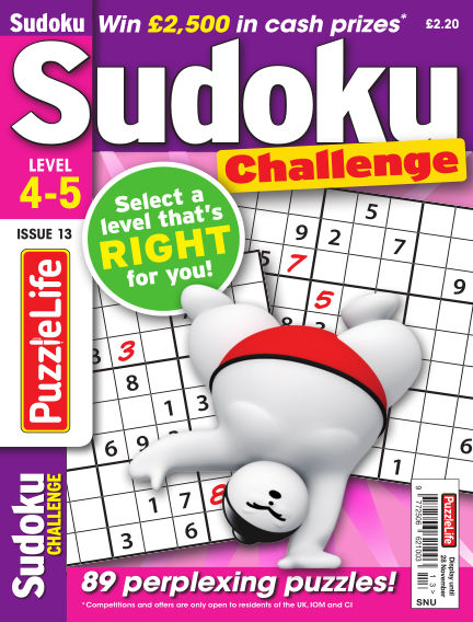 PuzzleLife Sudoku Challenge 4-5 October 31, 2019 00:00