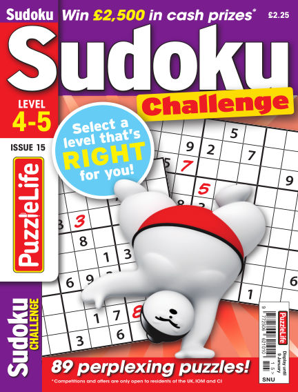 PuzzleLife Sudoku Challenge 4-5 December 12, 2019 00:00