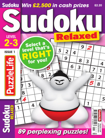 PuzzleLife Sudoku Relaxed 2-3 October 25, 2018 00:00