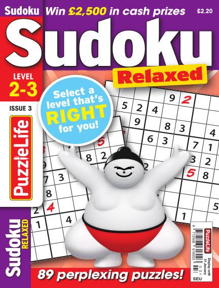 PuzzleLife Sudoku Relaxed 2-3 January 03, 2019 00:00