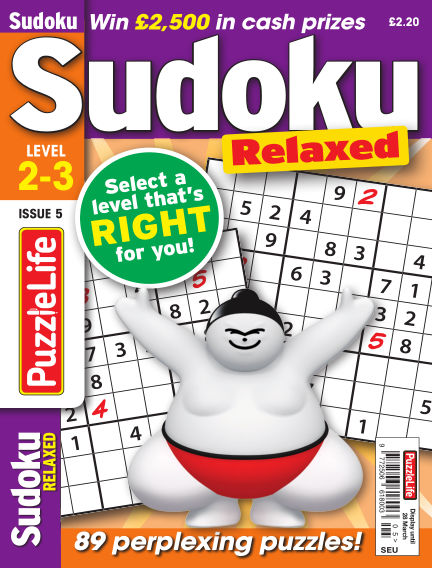 PuzzleLife Sudoku Relaxed 2-3 February 28, 2019 00:00