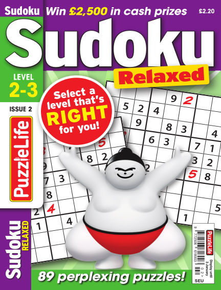 PuzzleLife Sudoku Relaxed 2-3 November 22, 2018 00:00