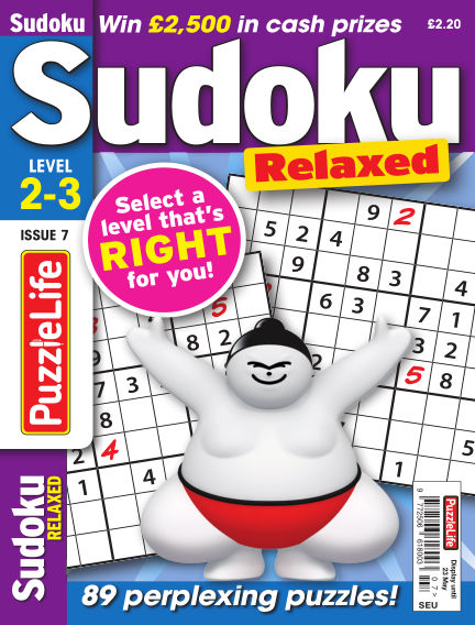 PuzzleLife Sudoku Relaxed 2-3 April 25, 2019 00:00