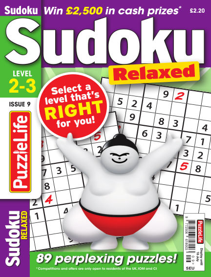 PuzzleLife Sudoku Relaxed 2-3 June 20, 2019 00:00
