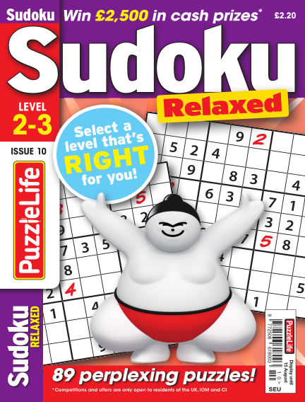 PuzzleLife Sudoku Relaxed 2-3 July 18, 2019 00:00