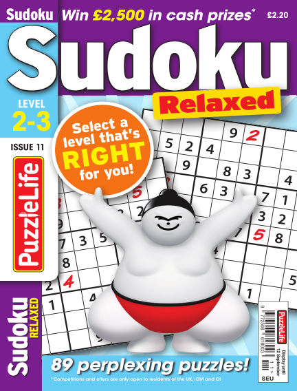 PuzzleLife Sudoku Relaxed 2-3 August 15, 2019 00:00