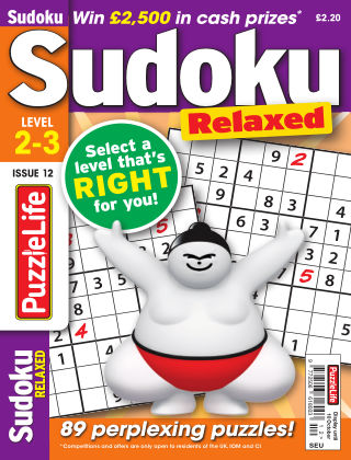 PuzzleLife Sudoku Relaxed 2-3 Issue 012