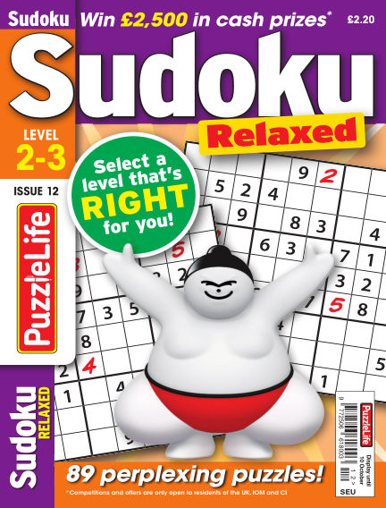 PuzzleLife Sudoku Relaxed 2-3 September 12, 2019 00:00