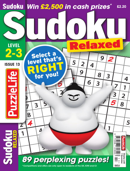 PuzzleLife Sudoku Relaxed 2-3 October 10, 2019 00:00