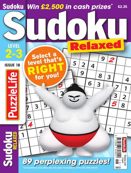 PuzzleLife Sudoku Relaxed 2-3 March 05, 2020 00:00