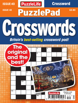 PuzzleLife PuzzlePad Crosswords Issue 40