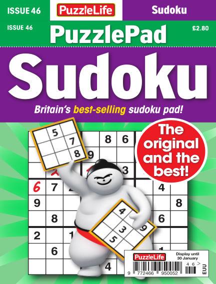 PuzzleLife PuzzlePad Sudoku January 02, 2020 00:00
