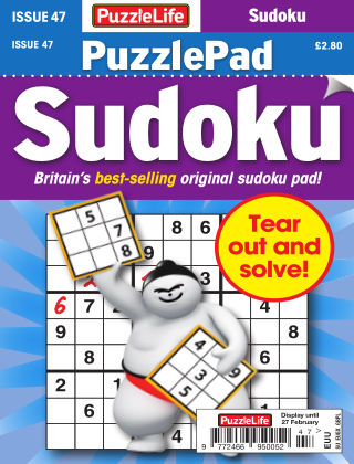 PuzzleLife PuzzlePad Sudoku Issue 047