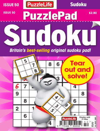 PuzzleLife PuzzlePad Sudoku Issue 050