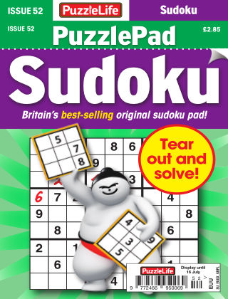 PuzzleLife PuzzlePad Sudoku Issue 052