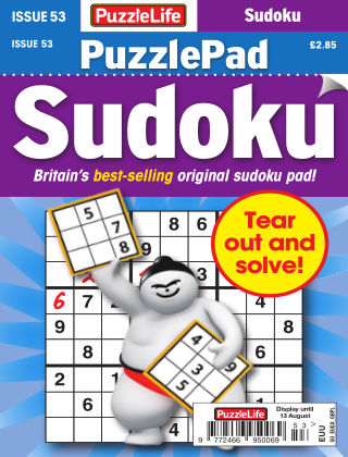 PuzzleLife PuzzlePad Sudoku Issue 053