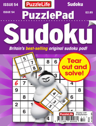 PuzzleLife PuzzlePad Sudoku Issue 054