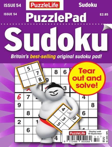 PuzzleLife PuzzlePad Sudoku August 13, 2020 00:00