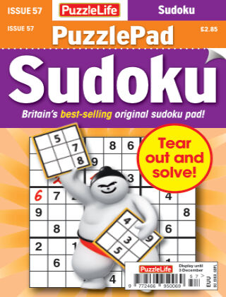 PuzzleLife PuzzlePad Sudoku Issue 057
