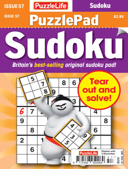 PuzzleLife PuzzlePad Sudoku November 05, 2020 00:00
