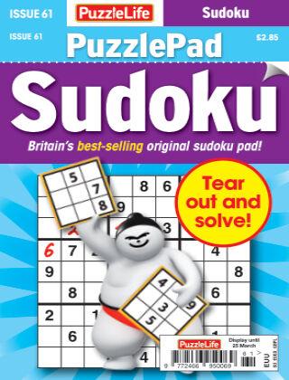 PuzzleLife PuzzlePad Sudoku Issue 061