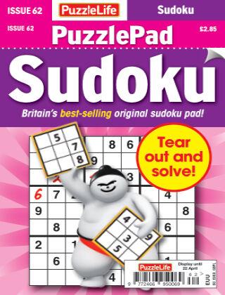 PuzzleLife PuzzlePad Sudoku Issue 062