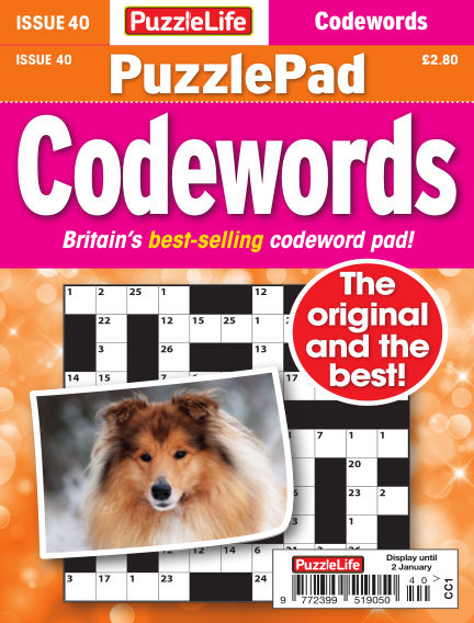 PuzzleLife PuzzlePad Codewords December 05, 2019 00:00