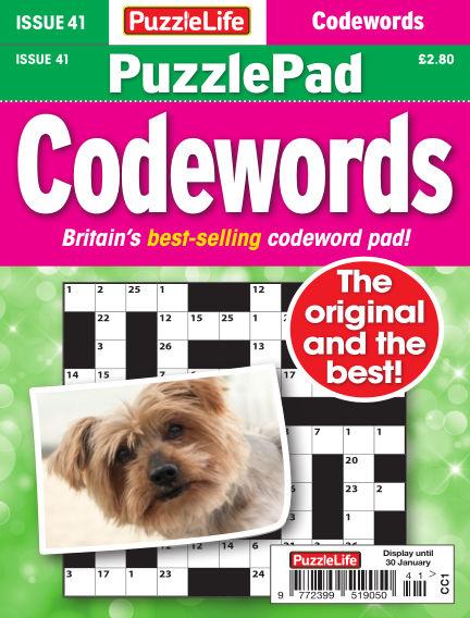 PuzzleLife PuzzlePad Codewords January 02, 2020 00:00