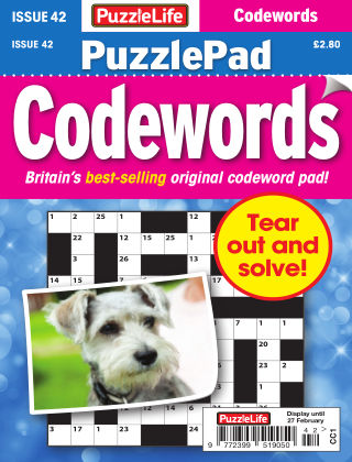 PuzzleLife PuzzlePad Codewords Issue 042