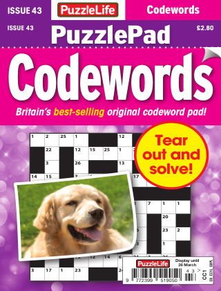 PuzzleLife PuzzlePad Codewords Issue 043