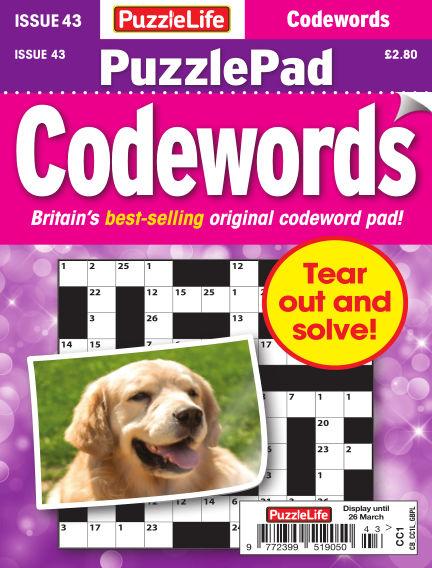 PuzzleLife PuzzlePad Codewords February 27, 2020 00:00