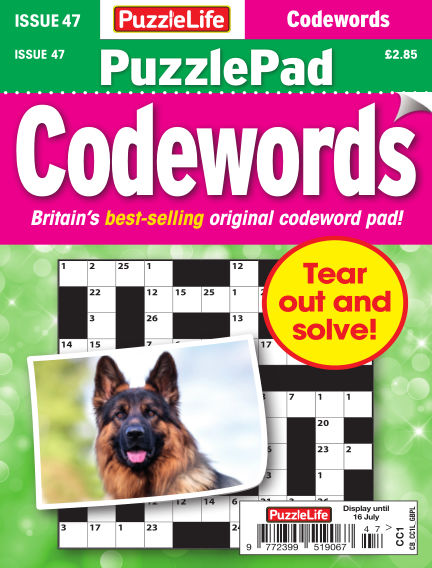 PuzzleLife PuzzlePad Codewords