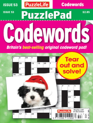 PuzzleLife PuzzlePad Codewords Issue 053