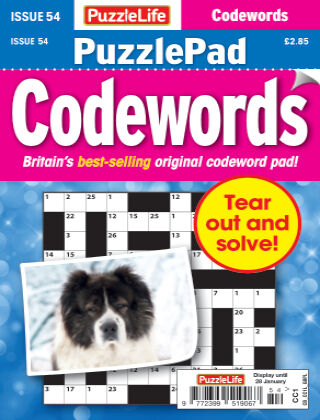 PuzzleLife PuzzlePad Codewords Issue 054