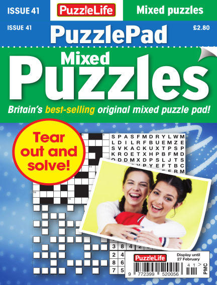 PuzzleLife PuzzlePad Puzzles January 30, 2020 00:00