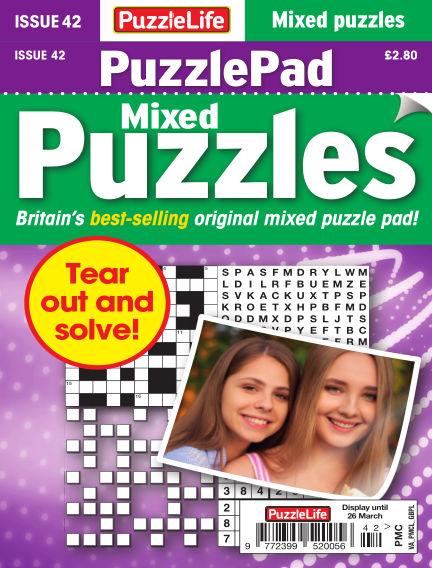 PuzzleLife PuzzlePad Puzzles February 27, 2020 00:00