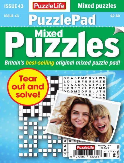 PuzzleLife PuzzlePad Puzzles March 26, 2020 00:00