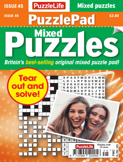 PuzzleLife PuzzlePad Puzzles May 21, 2020 00:00
