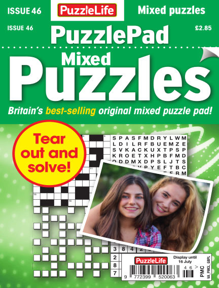 PuzzleLife PuzzlePad Puzzles June 18, 2020 00:00