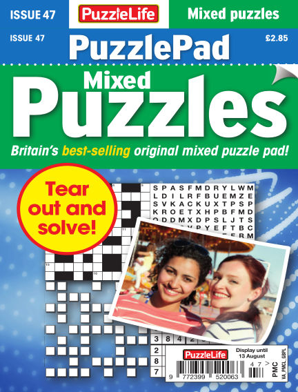 PuzzleLife PuzzlePad Puzzles July 16, 2020 00:00