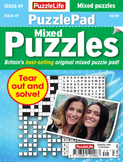 PuzzleLife PuzzlePad Puzzles September 10, 2020 00:00