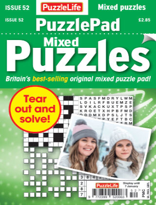 PuzzleLife PuzzlePad Puzzles Issue 052