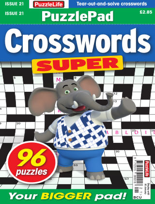 PuzzleLife PuzzlePad Crosswords Super Issue 021