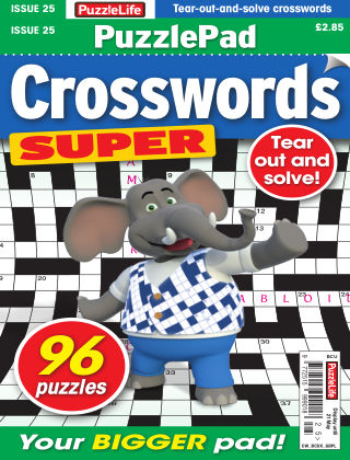 PuzzleLife PuzzlePad Crosswords Super Issue 025