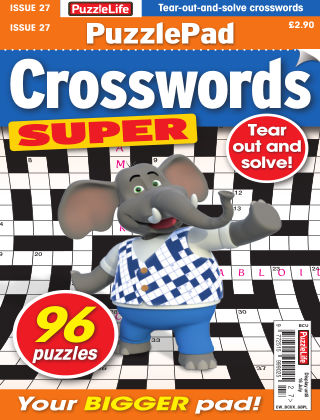 PuzzleLife PuzzlePad Crosswords Super Issue 027