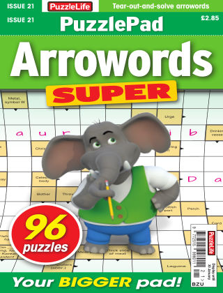PuzzleLife PuzzlePad Arrowords Super Issue 021