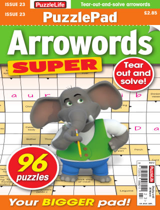 PuzzleLife PuzzlePad Arrowords Super Issue 023