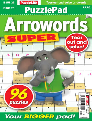PuzzleLife PuzzlePad Arrowords Super Issue 025