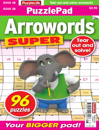 PuzzleLife PuzzlePad Arrowords Super Issue 028