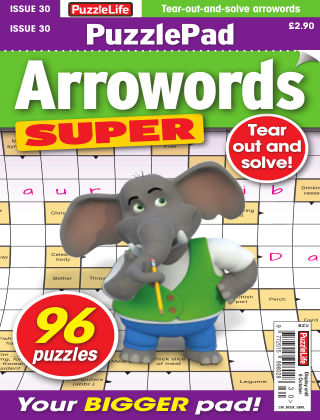 PuzzleLife PuzzlePad Arrowords Super Issue 030